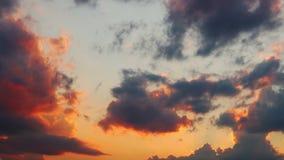 Lasso di tempo di tramonto 4k stock footage