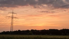 Lasso di tempo di tramonto di zona rurale stock footage