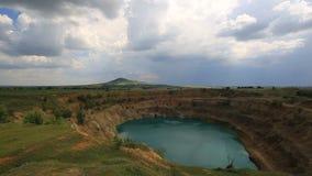 Lasso di tempo di un cratere gigante archivi video