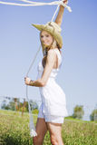Lassoing Lady Stock Images