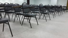 Lassroom education. Background empty school class lecture room interior view, no teacher nor student Stock Image