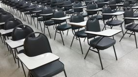 Lassroom education. Background empty school class lecture room interior view, no teacher nor student Royalty Free Stock Photo