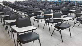 Lassroom education. Background empty school class lecture room interior view, no teacher nor student Stock Photos