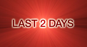 Last 2 days sale banner in red Stock Images