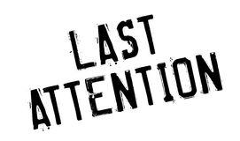 Last Attention rubber stamp Royalty Free Stock Image