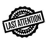 Last Attention rubber stamp Royalty Free Stock Photos