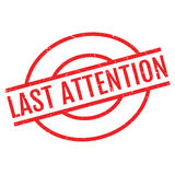 Last Attention rubber stamp Stock Image