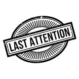 Last Attention rubber stamp Royalty Free Stock Images