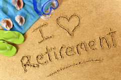 Retirement plan beach vacation love happiness Royalty Free Stock Images