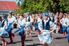 Last bell Lutsk 11th grade high school 14 29.05.2015 sunny summer day. Last bell Lutsk 11th grade high school 14 celebration was held in Lutsk Volyn Region Royalty Free Stock Image