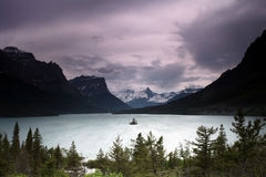 The Last Best Place. Scenic view of Wild Goose Island and St. Mary Lake in Glacier National Park, Montana Royalty Free Stock Photography