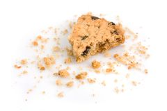 Last bite of a chocolate chip cookie Stock Image