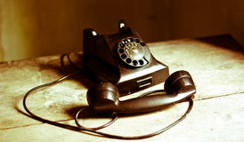 The last call interrupted. The nostalgia of old phones and times gone that will never return Royalty Free Stock Image