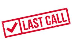 Free Last Call Rubber Stamp Royalty Free Stock Photography - 88049137