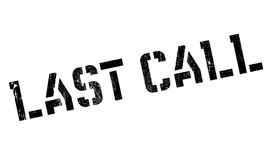 Last Call rubber stamp Stock Photography