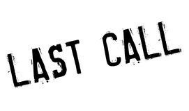 Last Call rubber stamp. Grunge design with dust scratches. Effects can be easily removed for a clean, crisp look. Color is easily changed Stock Photos