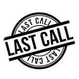 Last Call rubber stamp Stock Images