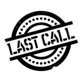 Last Call rubber stamp Royalty Free Stock Photos