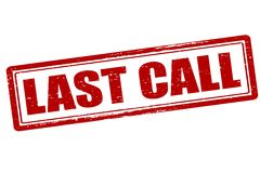 Last call. Rubber stamp with text last call inside,  illustration Royalty Free Stock Photos