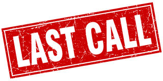 Last call stamp Stock Images