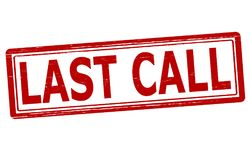 Last call. Stamp with text last call inside,  illustration Royalty Free Stock Image