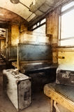 Last century rail car interior Royalty Free Stock Photos