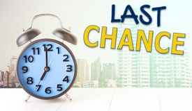 Last chance alarm clock with copy space Royalty Free Stock Photo