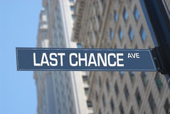 Last chance Avenue Royalty Free Stock Photography