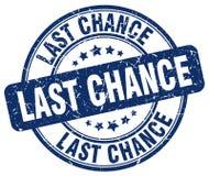 Last chance blue grunge round vintage stamp. Last chance blue grunge round vintage rubber stamp Stock Photos