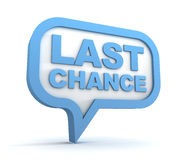 Last chance concept 3d illustration Royalty Free Stock Image