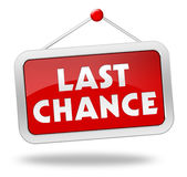 Last chance concept illustration Stock Photos
