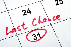 Last chance and deadline Stock Images