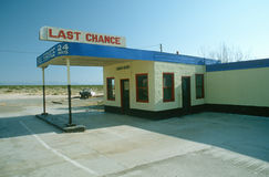 Last Chance Gas Station Stock Photo