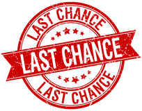 last chance grunge retro red isolated stamp Royalty Free Stock Images