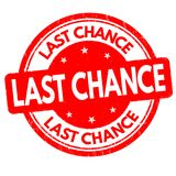 Last chance grunge rubber stamp. On white background, vector illustration Stock Images