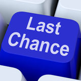 Last Chance Key Shows Final Opportunity Online. Last Chance Key Showing Final Opportunity Online Royalty Free Stock Photography