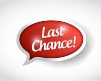 Last chance message bubble illustration design Royalty Free Stock Photos