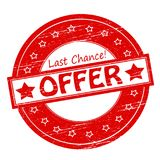 Last chance offer. Rubber stamps with text last chance offer inside,  illustration Stock Photography