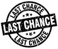 Last chance round grunge stamp. Last chance round grunge black stamp stock illustration