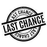 Last Chance rubber stamp Stock Photos