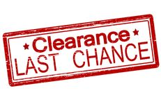 Last chance. Rubber stamp with text last chance inside,  illustration Royalty Free Stock Photography