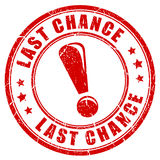 Last chance rubber stamp. Last chance rubber vector stamp stock illustration