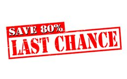 Last chance. Rubber stamps with text last chance inside,  illustration Royalty Free Stock Photos