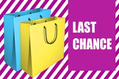 Last Chance - sale concept Royalty Free Stock Photo