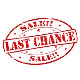 Last chance sale. Rubber stamps with text last chance sale inside,  illustration Stock Image