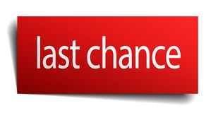 Last chance sign. Last chance square paper sign isolated on white background. last chance button. last chance vector illustration