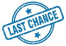 last chance stamp vector illustration