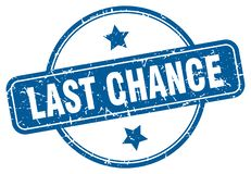 Last chance stamp. Last chance grunge vintage stamp isolated on white background. last chance. sign vector illustration