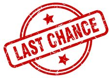Last chance stamp. Last chance grunge vintage stamp isolated on white background. last chance. sign stock illustration