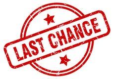 last chance stamp stock illustration